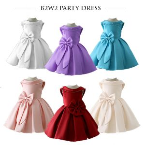 Party dress anak satin B2W2