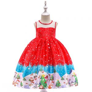 Dress Anak Natal Warna Merah