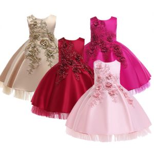 Party Dress B2W2 Flower Satin