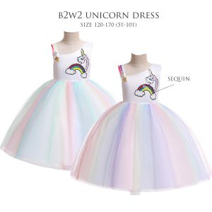 Dress tutu anak unicorn B2W2 off shoulder