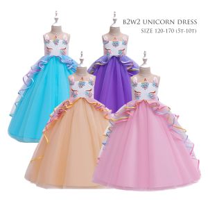 Dress tutu anak unicorn panjang B2W2