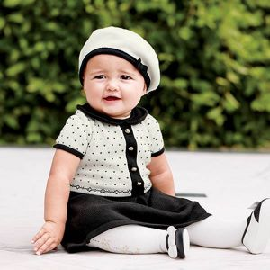 Dress bayi 2-in-1 set topi