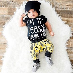 Setelan bayi 3-in-1 reason-late set topi