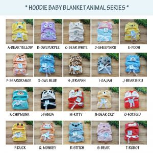 SELIMUT TOPI CARTER BABY ANIMAL BLANKET HOODIE FLEECE HALUS IMPORT PREMIUM