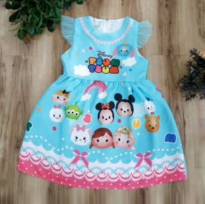 Dress Jacquard GW Tsum Tsum Biru