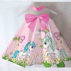 Dress anak Unicorn satin premium import
