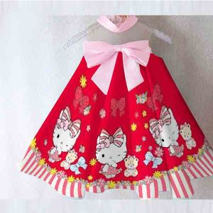 Dress anak Kitty satin premium import