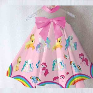 Dress anak Little Pony satin premium import