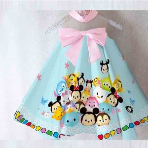 Dress anak Tsum-tsum satin premium import