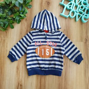 Jaket hoodie anak motif stripe all star football
