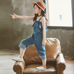 Overall jeans anak perempuan