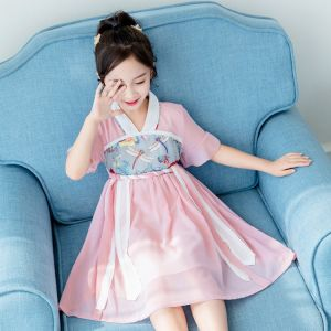 Girl korean dress pink