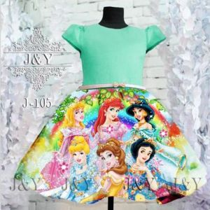 Dress character princess hijau
