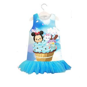 Dress anak tsum-tsum biru
