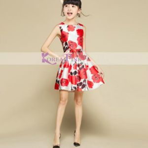 Dress Koreapink Printed Flower