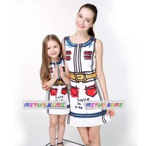 Dress Sablon Mitun Love-in-the-air