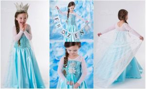 Costume princess dress Frozen Elsa
