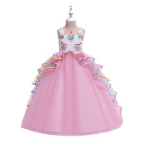 Dress tutu anak unicorn panjang Pink