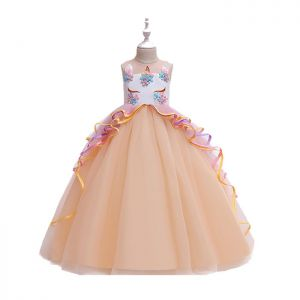 Dress tutu anak unicorn Peach