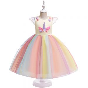 Dress tutu anak unicorn B2W2 kuning