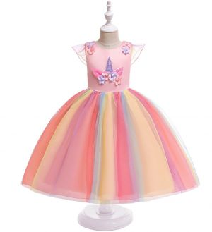 Dress tutu anak unicorn B2W2 pink