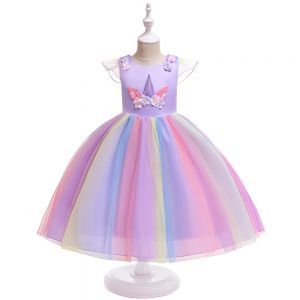 Dress tutu anak unicorn B2W2 ungu