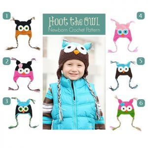 TOPI RAJUT OWL COLORFUL