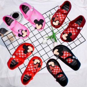 SEPATU JELLY ANAK KARAKTER IMPORT / JELLY SHOES MINNIE IMPORT PREMIUM