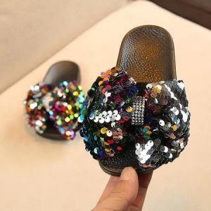 Sandal sequin anak colorful rainbow