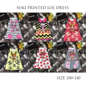 Dress anak karakter LOL surprise import