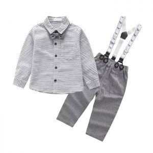 Baby 4-in-1 Formal Boy Top Stripe abu