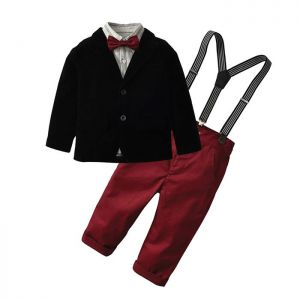 Baby 5-in-1 Formal Boy Set Pant merah