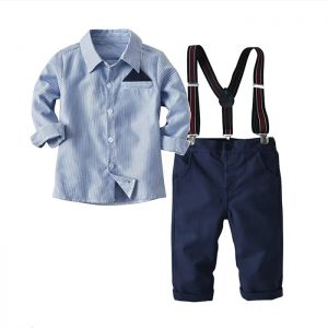 Baby 3-in-1 Formal Boy Top biru