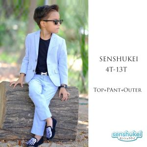 Senshukei 3-in-1 formal boy set jas biru