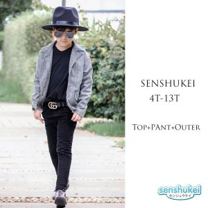 Senshukei 3-in-1 formal boy set jas abu