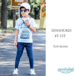Senshukei 3-in-1 casual boy biru set hat